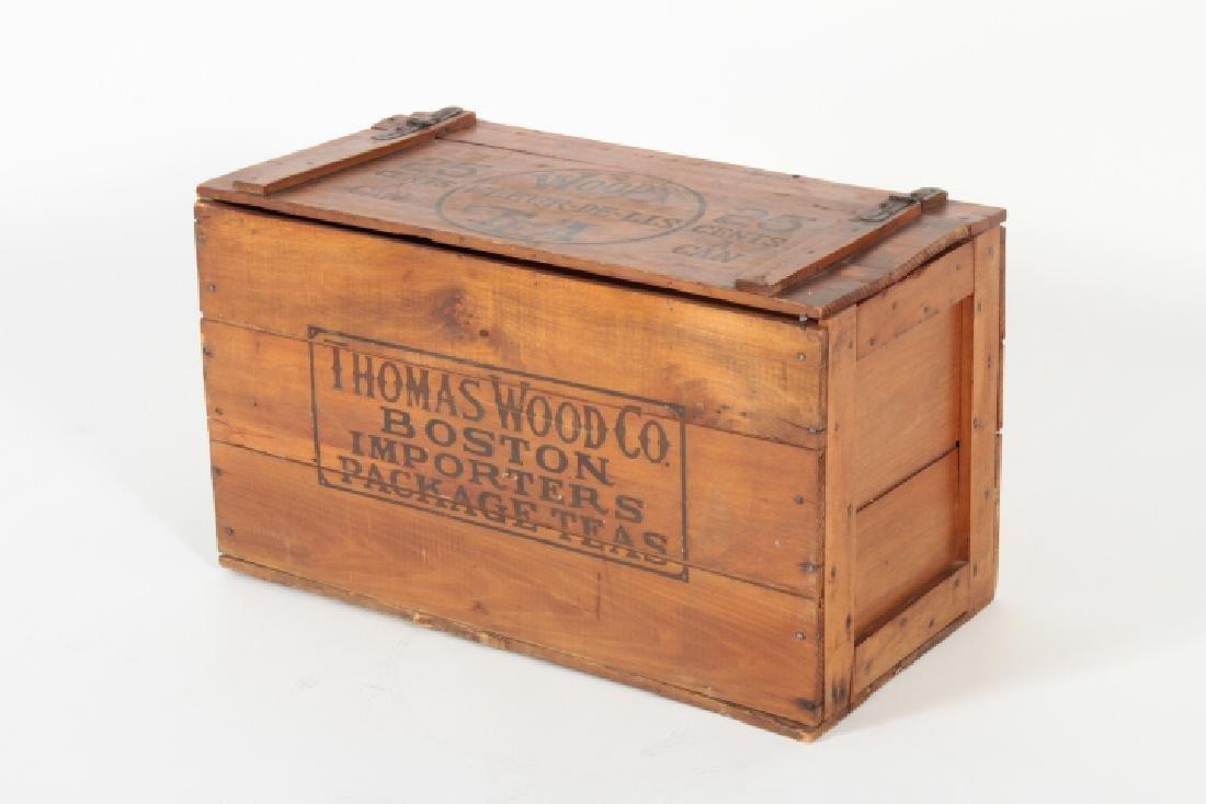 Wood's Fleur De Lis Wooden Tea Crate, c. 1900