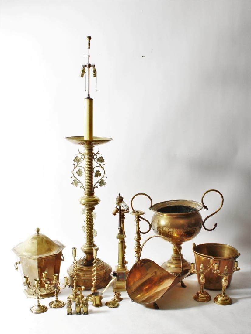 Group of 19th-20th C. Brass Objects