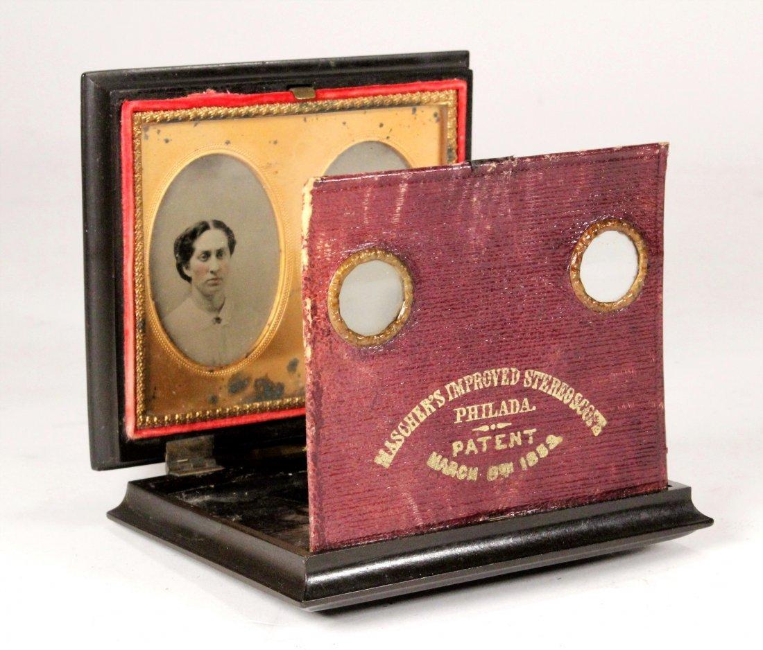 Maschers Improved Stereoscope Photograph & Case