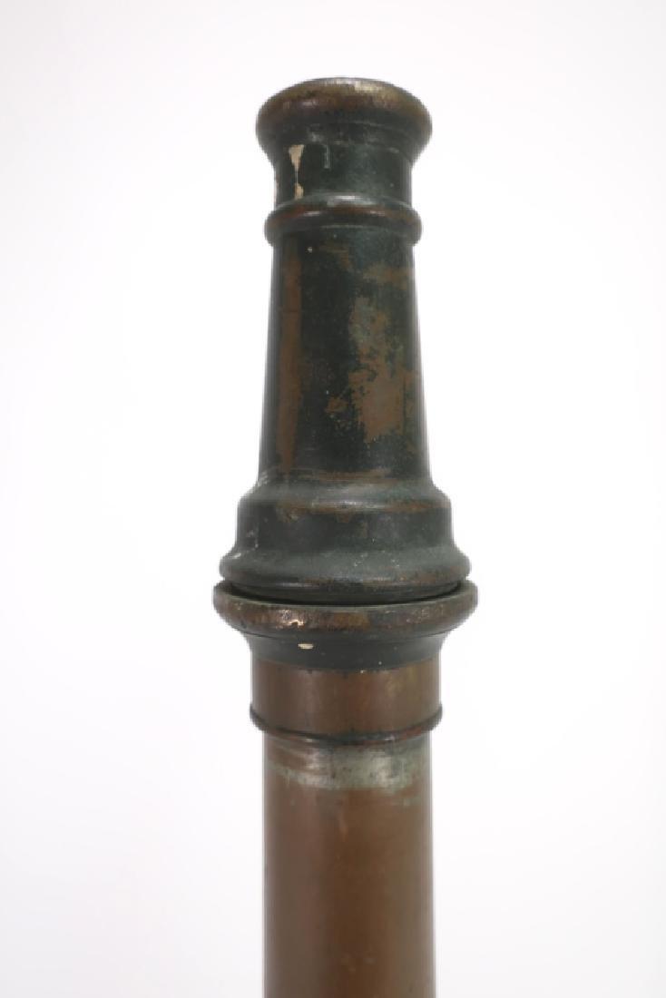 Vintage Brass Fire Hose Nozzle - 2