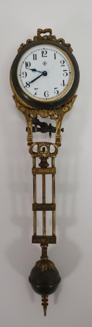 Junghans Germany Swing Clock, c. 1900, As Is.