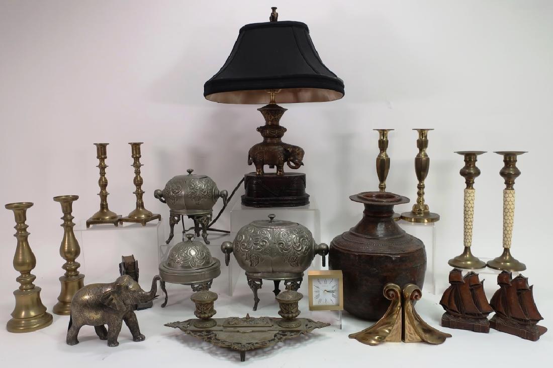 Lot of 15 Brass & Metal Decorative Items
