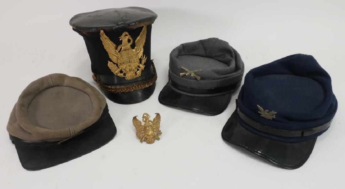 4 Military Hats: Civil War Replicas LaSalle Trump