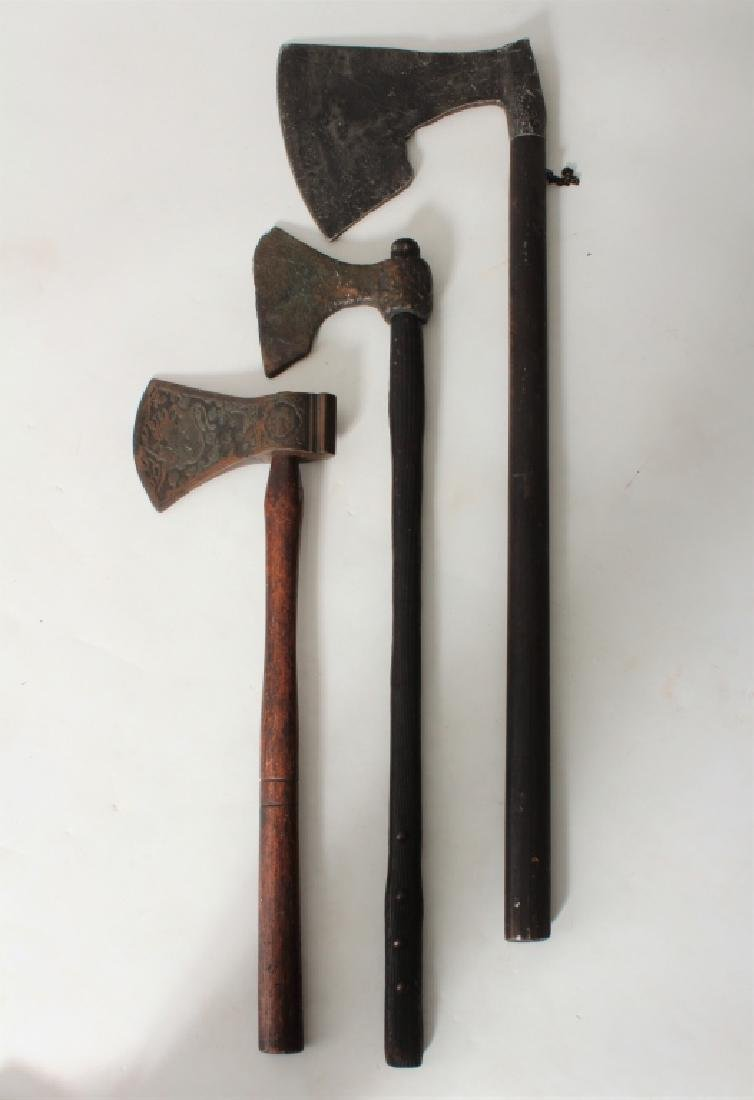 Reproduction Medieval Weapons 4 Axes & a Shield - 2
