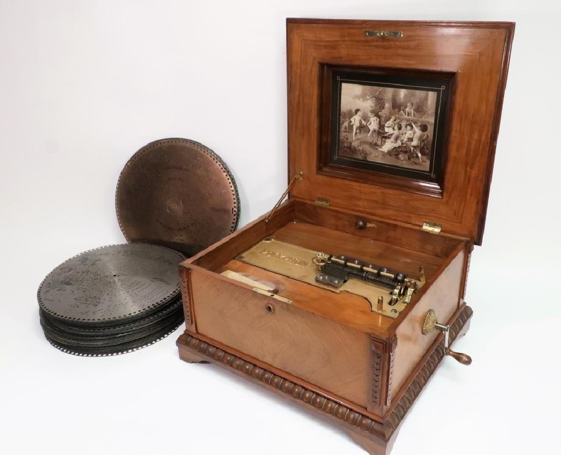 Polyphon Music Box 1890 55 Disks Excellent Borland