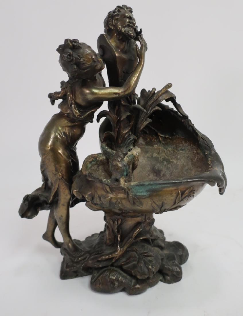 Ettlinger Freres Art Nouveau Pewter Cachepot