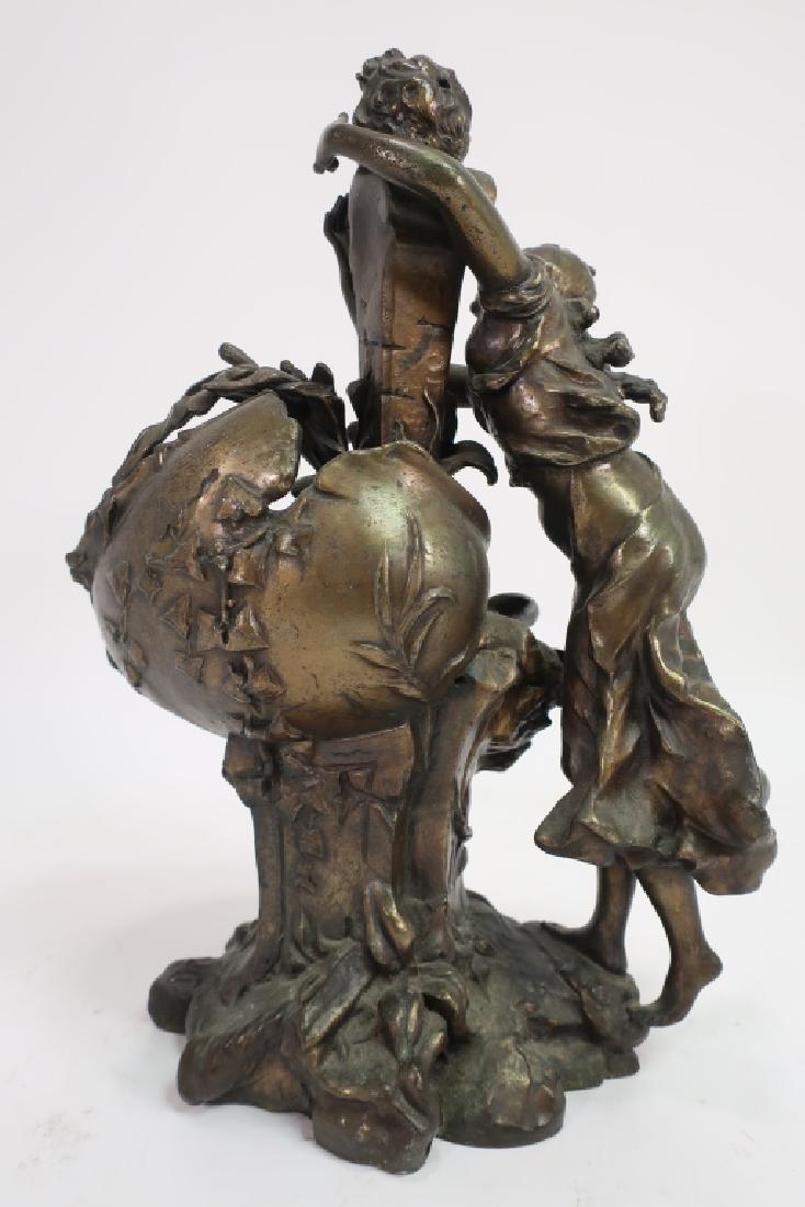 Ettlinger Freres Art Nouveau Pewter Cachepot - 3