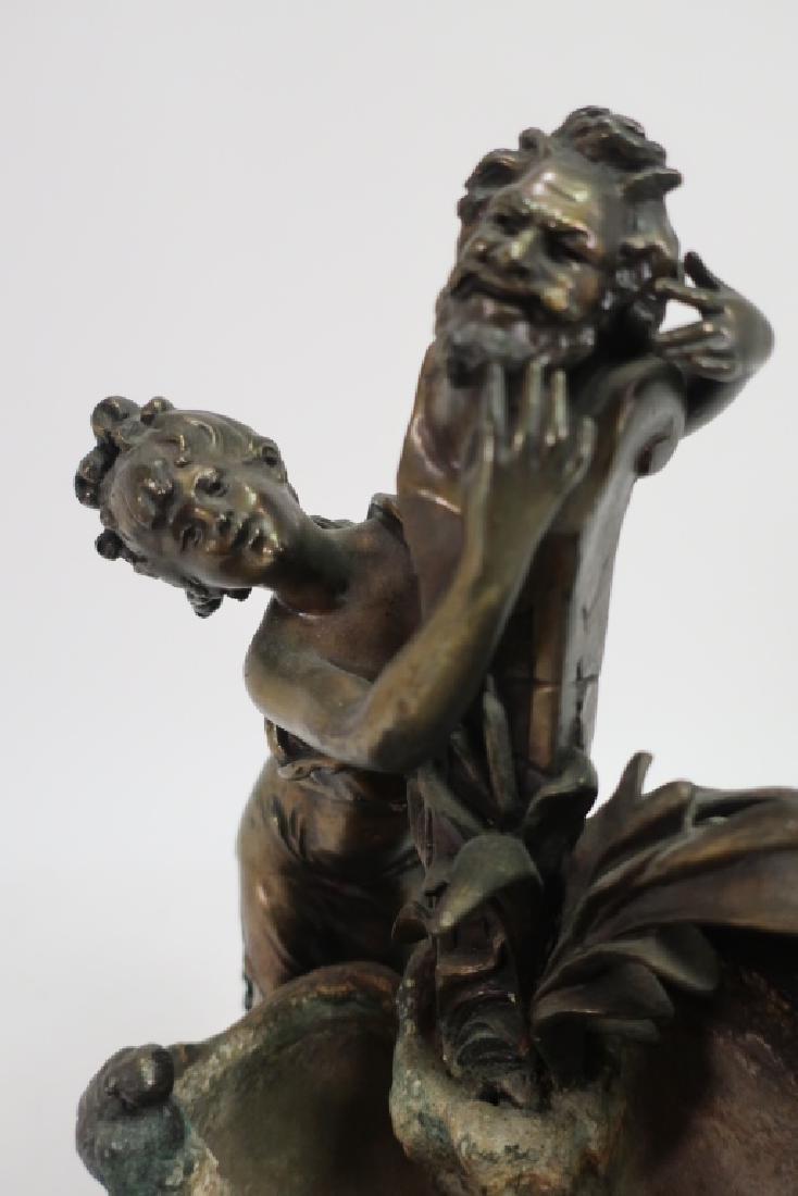 Ettlinger Freres Art Nouveau Pewter Cachepot - 4