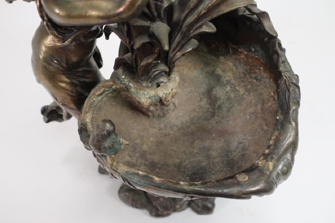 Ettlinger Freres Art Nouveau Pewter Cachepot - 7