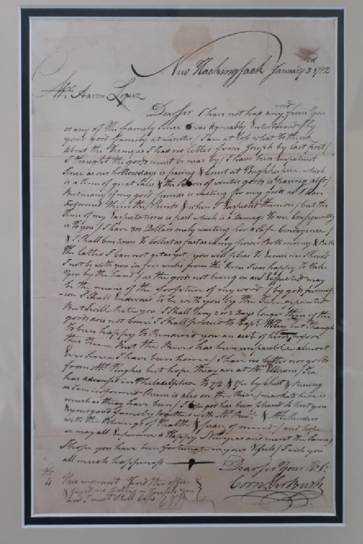 1782 Letter to Aaron Lopez, Newport & 1869 Bond - 3