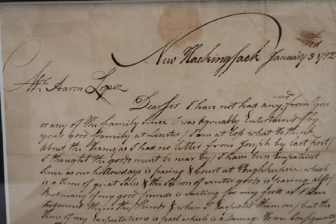 1782 Letter to Aaron Lopez, Newport & 1869 Bond - 7
