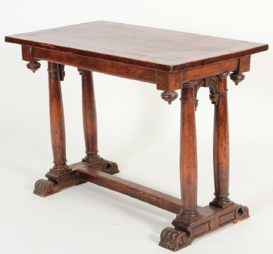 16th C. Henri II Carved Walnut Side Table