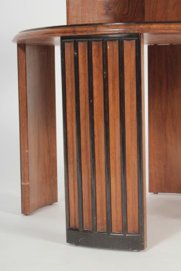 Deco Side Table Walnut & Burl Marquetry Star Burst - 5