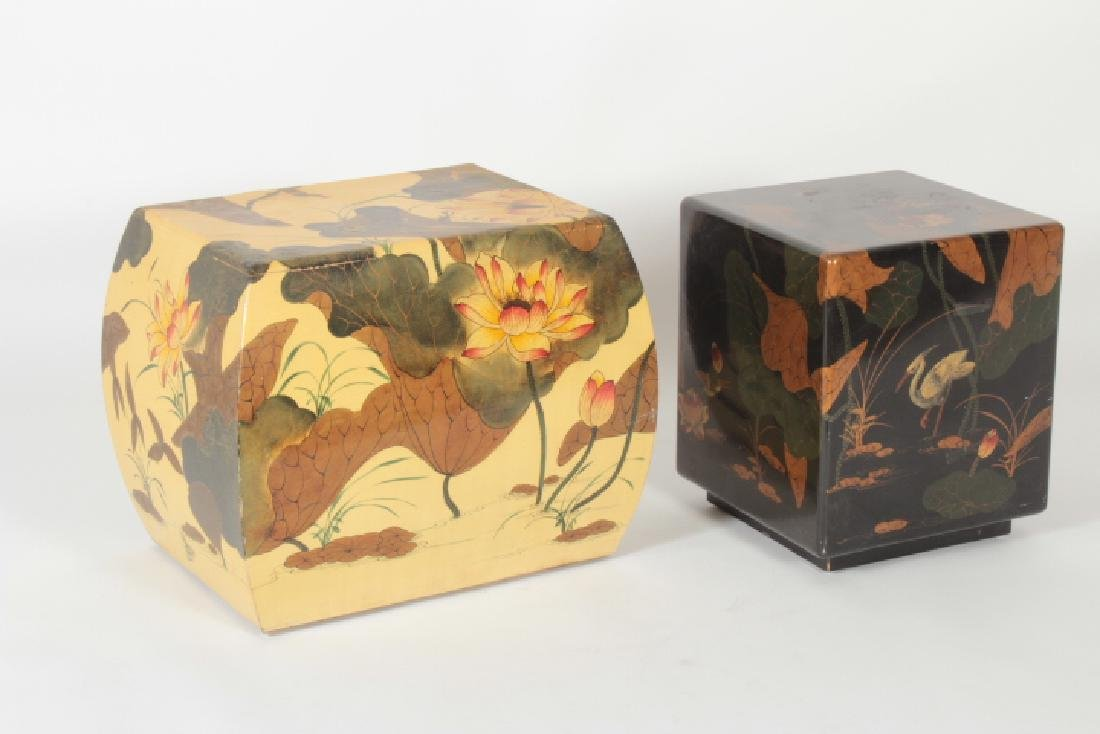 2 Maitland Smith Asian Style Occasional Tables