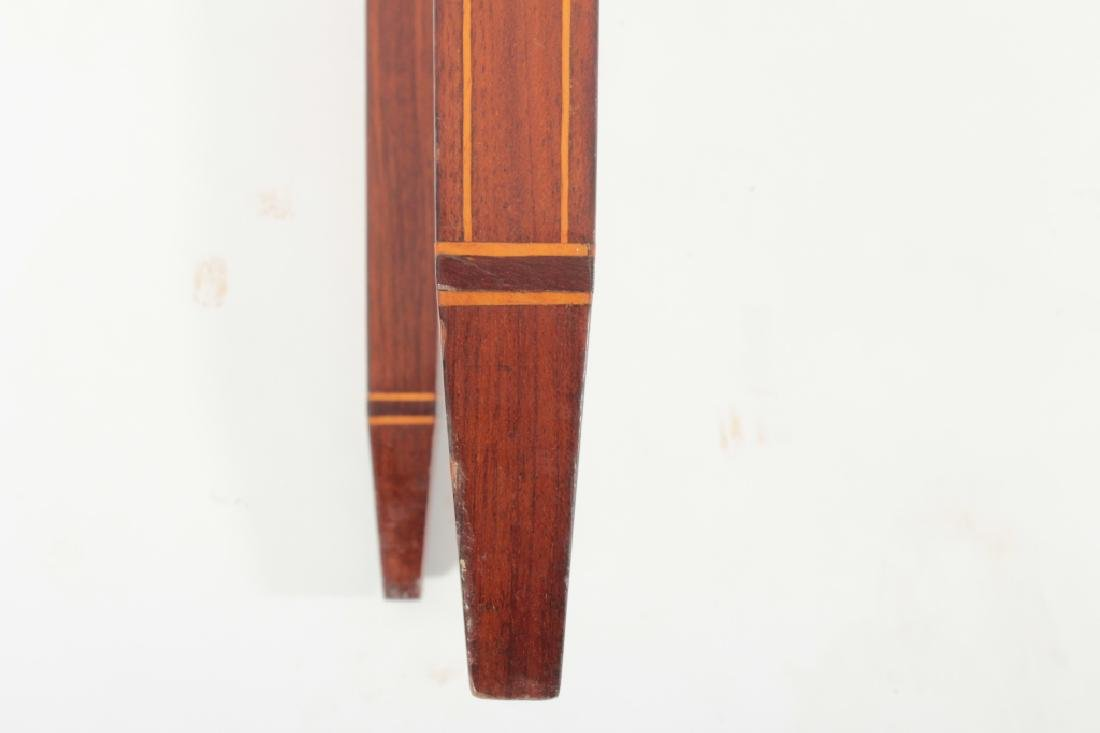 Federal Mahogany Folding Games Table, Bell Flowers - 10