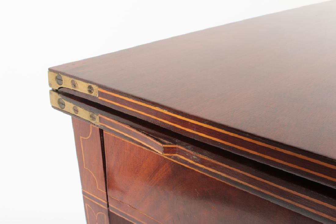 Federal Mahogany Folding Games Table, Bell Flowers - 3