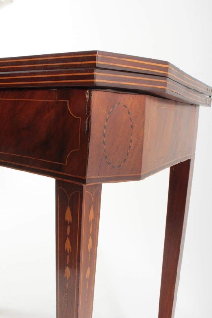 Federal Mahogany Folding Games Table, Bell Flowers - 5