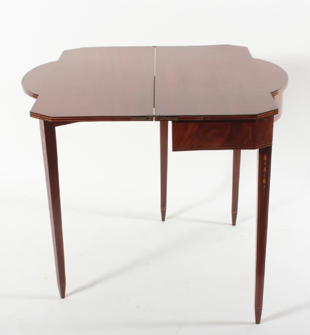 Federal Mahogany Folding Games Table, Bell Flowers - 6