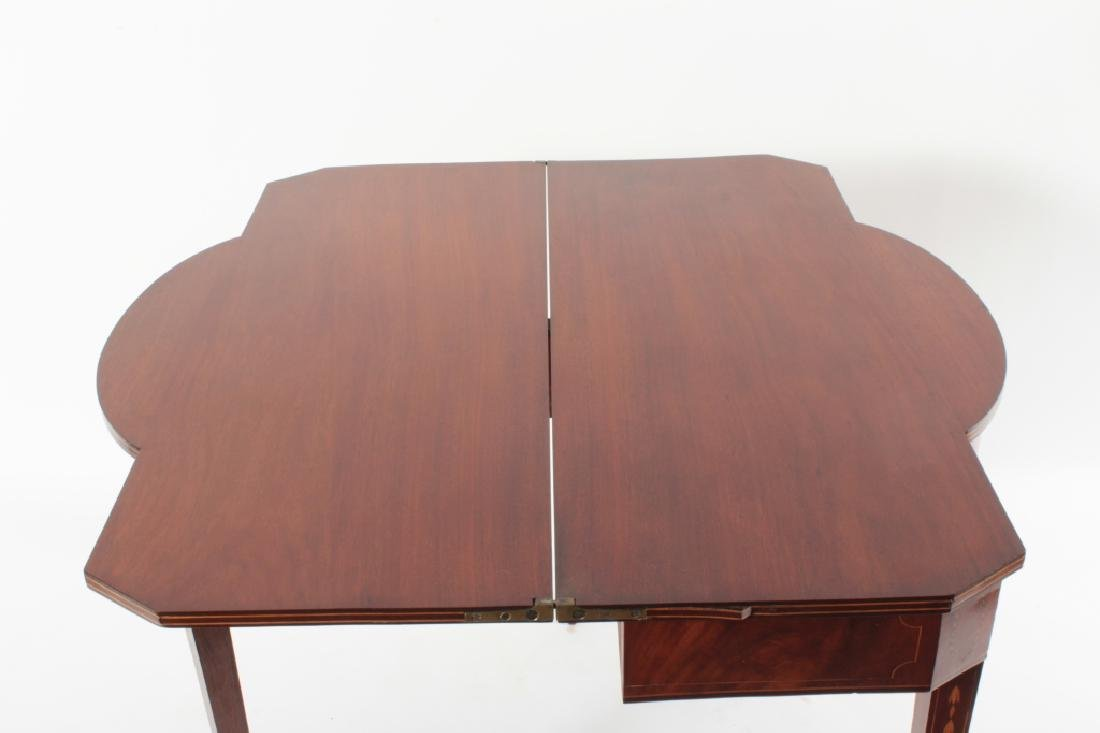 Federal Mahogany Folding Games Table, Bell Flowers - 7