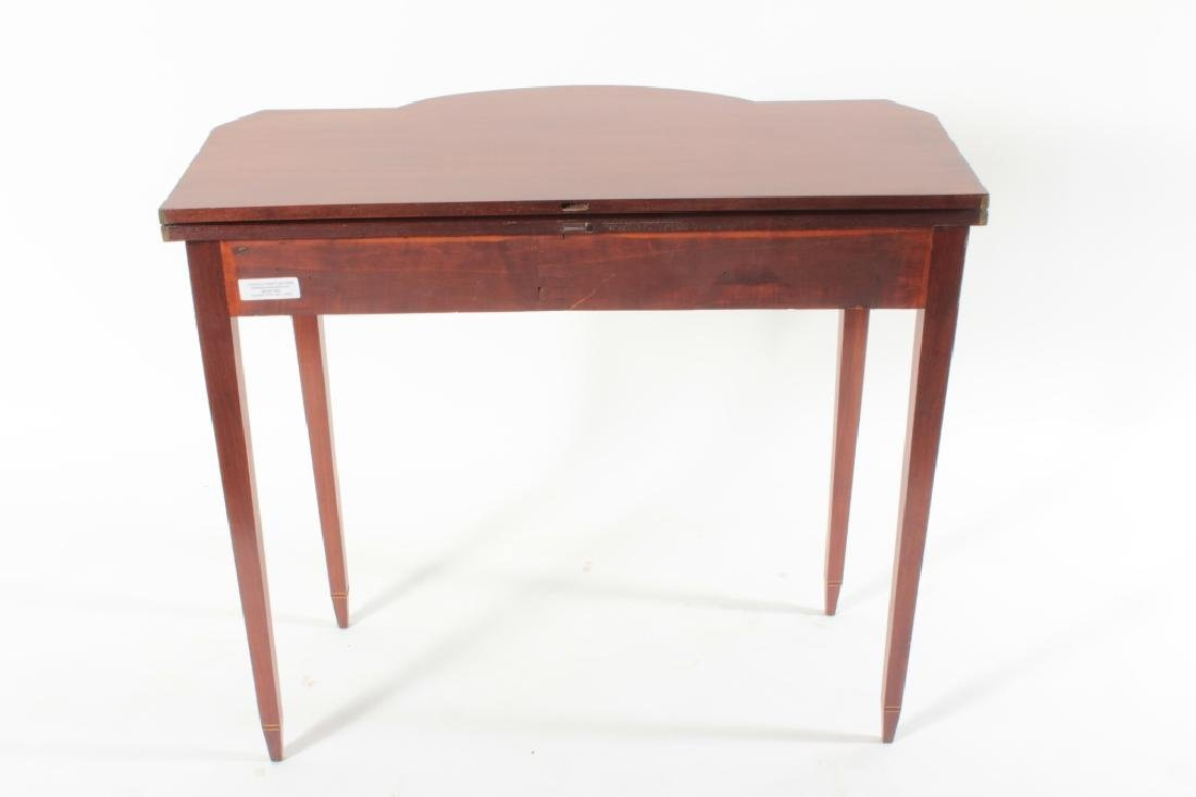 Federal Mahogany Folding Games Table, Bell Flowers - 8