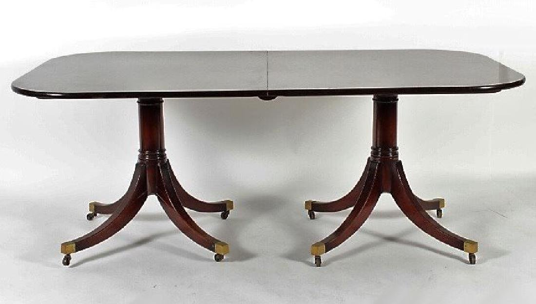 Georgian Style Mahogany Two Pedestal Dining Table
