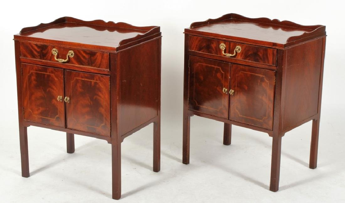 Baker Furniture Inlaid Mahogany End Table