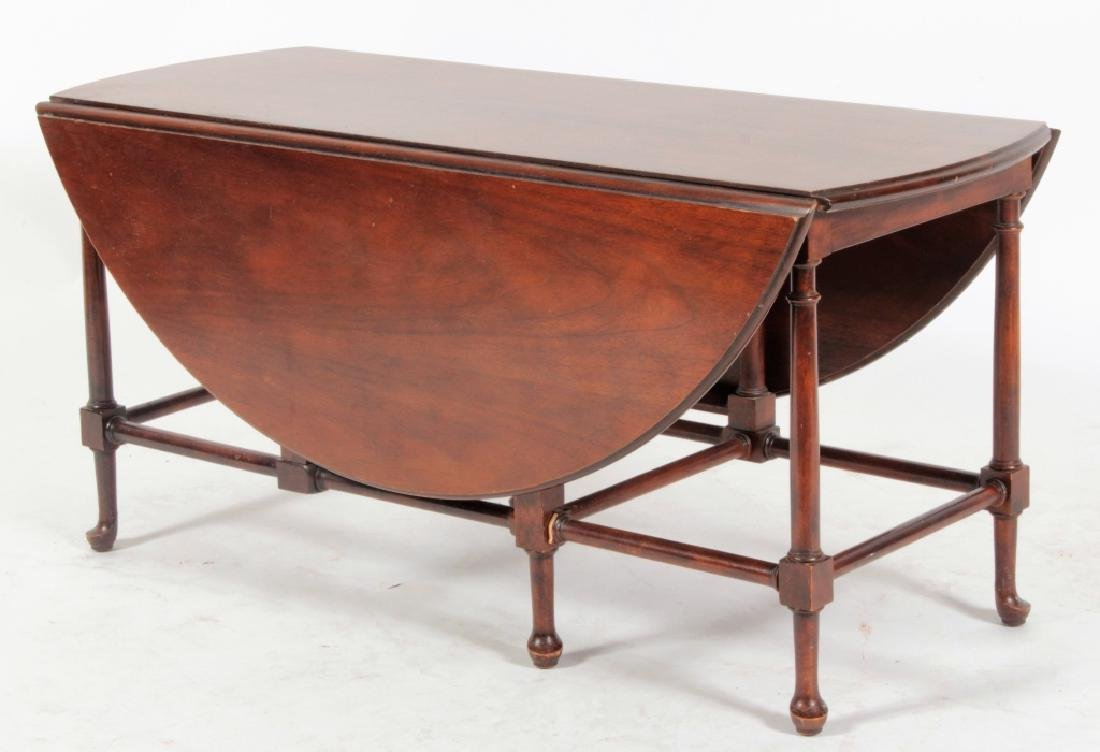 Baker Furniture Mahogany Drop Leaf Cocktail Table