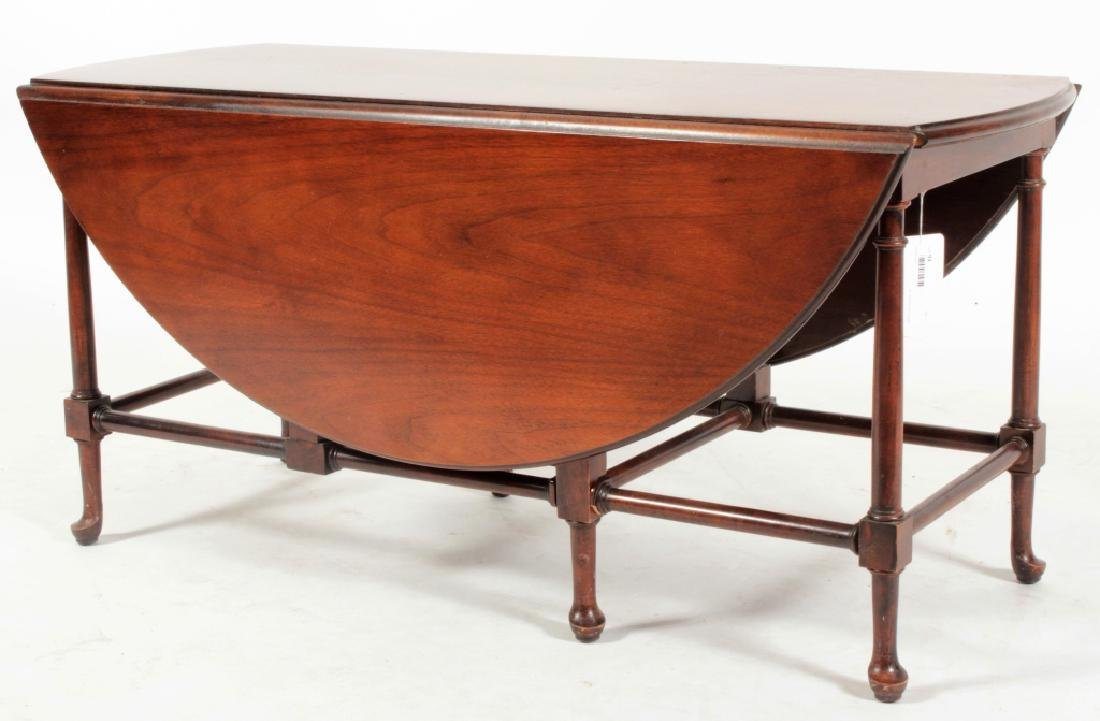 Baker Furniture Mahogany Drop Leaf Cocktail Table - 2