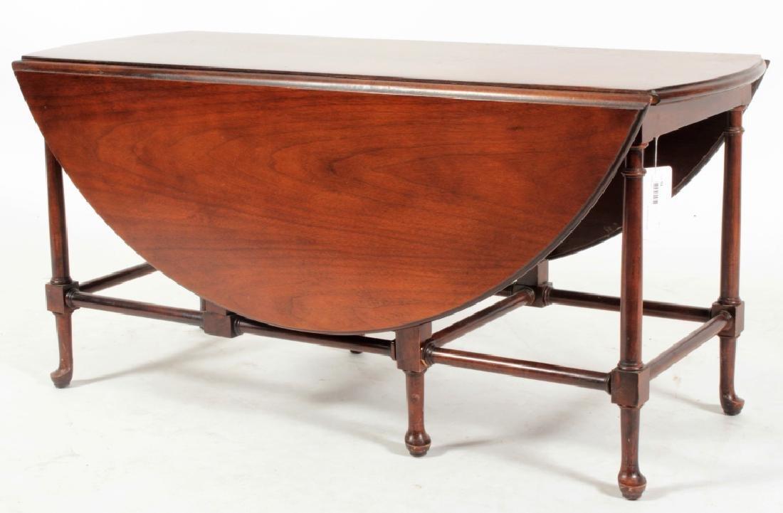 Baker Furniture Mahogany Drop Leaf Cocktail Table - 2