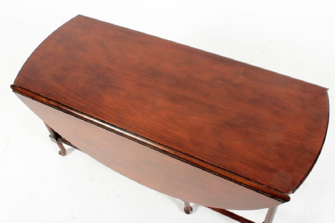 Baker Furniture Mahogany Drop Leaf Cocktail Table - 3