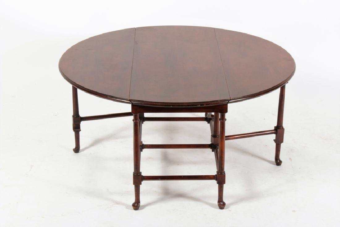 Baker Furniture Mahogany Drop Leaf Cocktail Table - 4