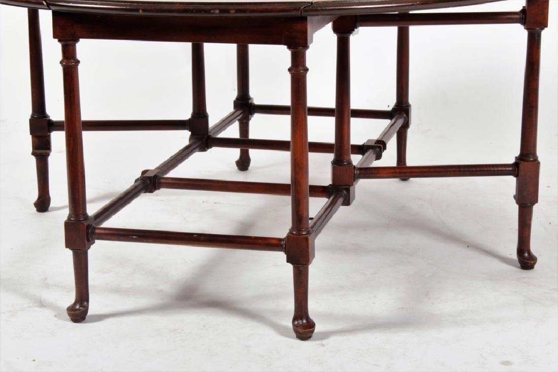 Baker Furniture Mahogany Drop Leaf Cocktail Table - 5