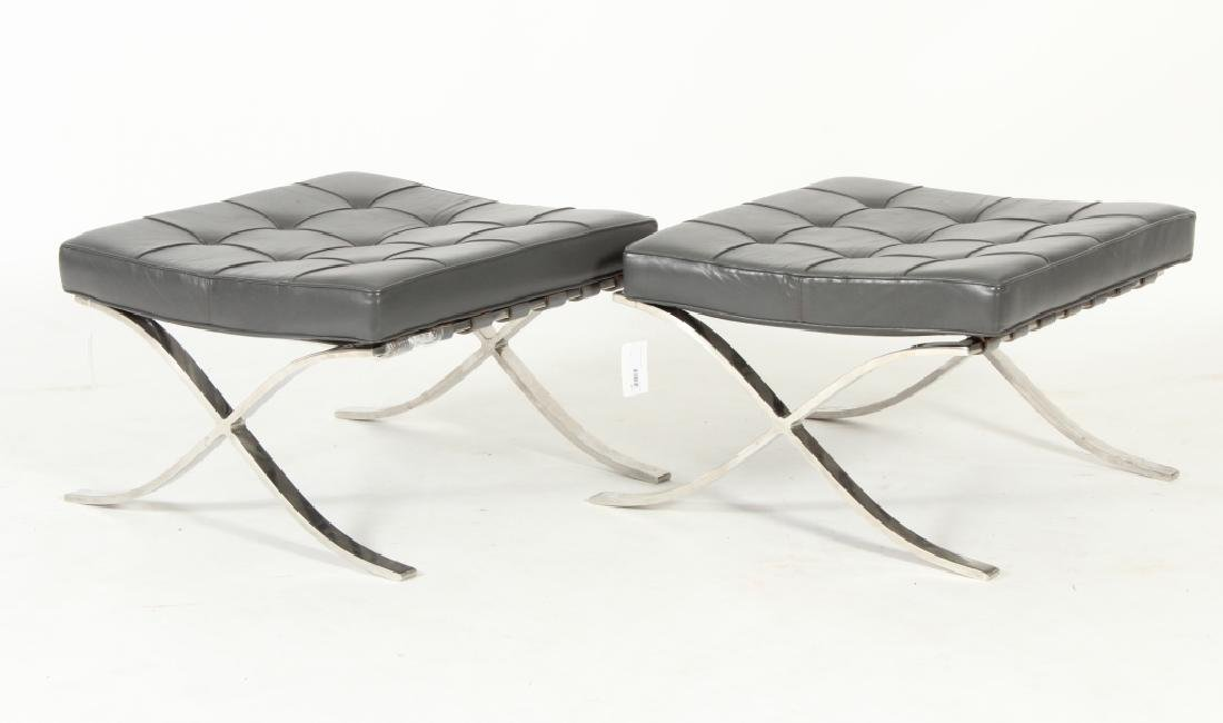 Pair Mies Van der Rohe Barcelona Ottomans by Knoll
