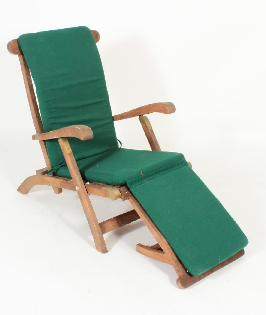 Teak Commodore Steamer Chair, labeled Andrew - 2