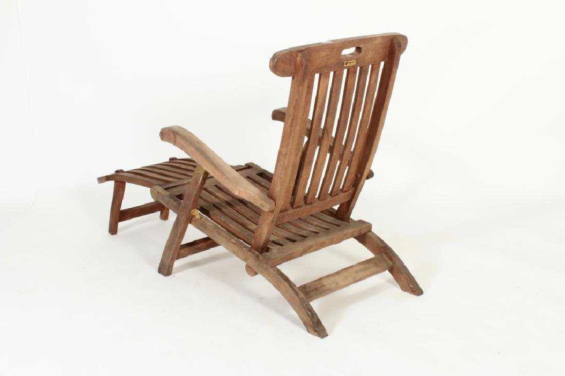 Teak Commodore Steamer Chair, labeled Andrew - 5