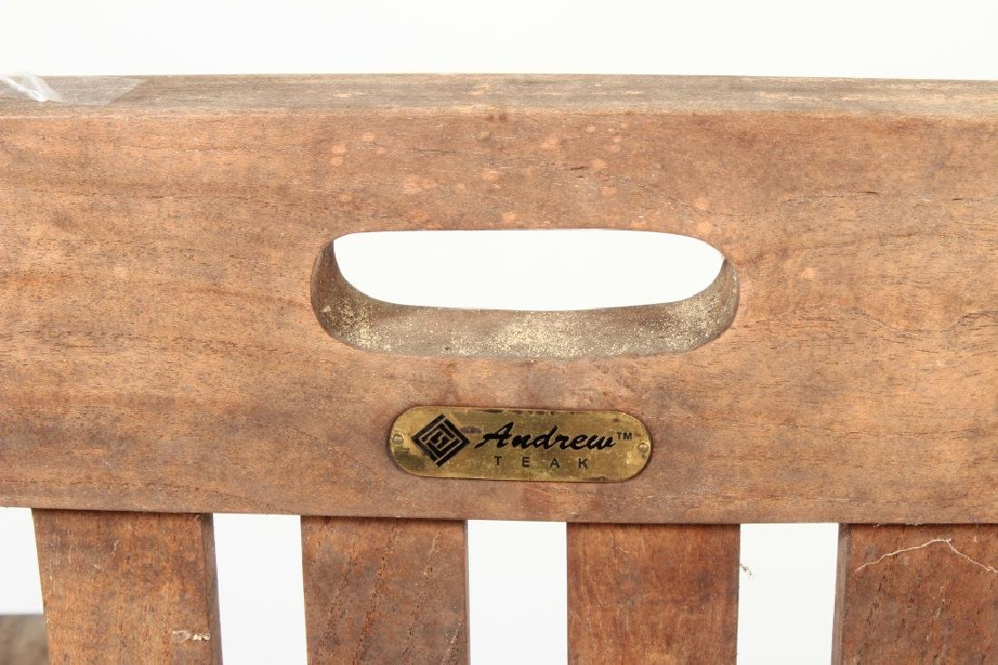 Teak Commodore Steamer Chair, labeled Andrew - 6