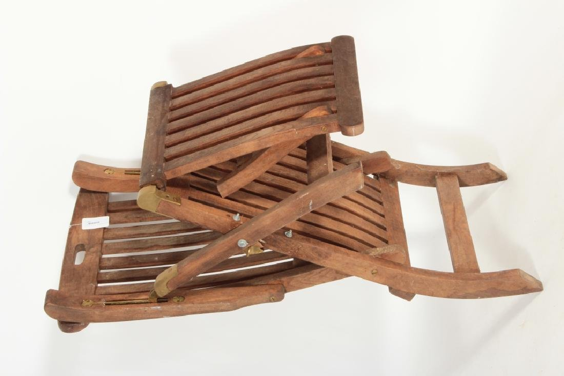 Teak Commodore Steamer Chair, labeled Andrew - 7
