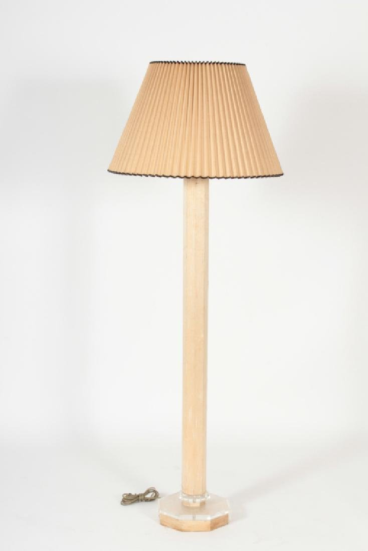 Possibly Karl Springer Standing Floor Lamp & Shade