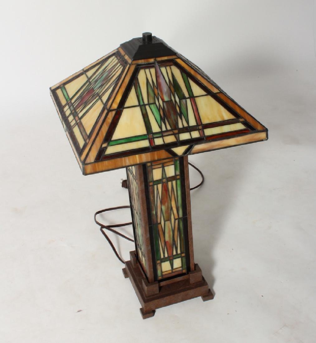 Frank Lloyd Wright Style Floor Lamp & Table Lamp - 2