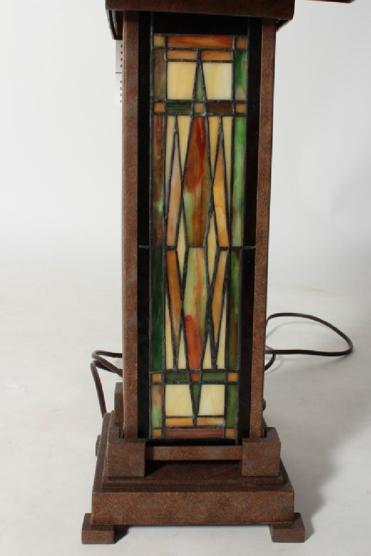 Frank Lloyd Wright Style Floor Lamp & Table Lamp - 3