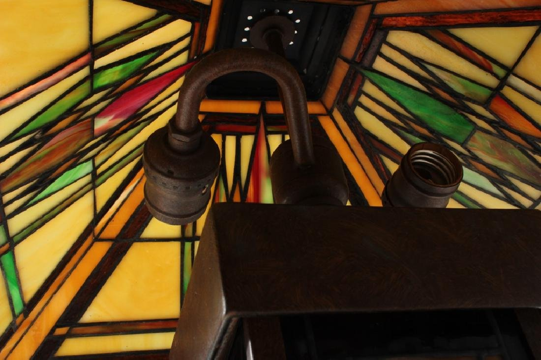 Frank Lloyd Wright Style Floor Lamp & Table Lamp - 4