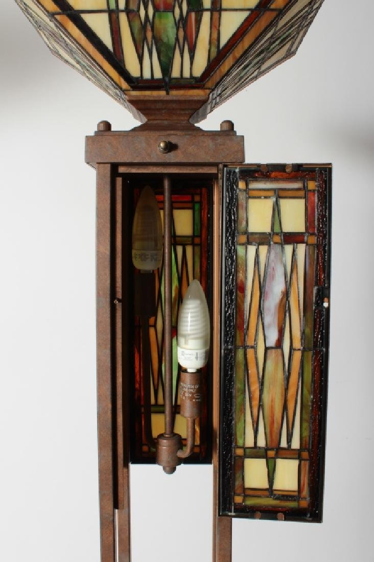 Frank Lloyd Wright Style Floor Lamp & Table Lamp - 8