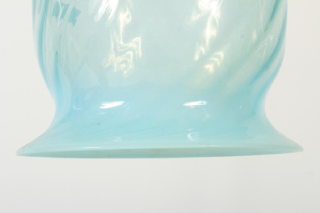 Indian Hand Blown Swirled Glass Pendant Light - 3