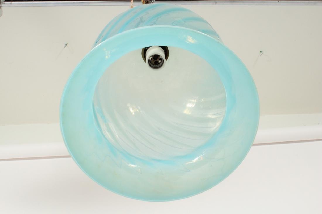 Indian Hand Blown Swirled Glass Pendant Light - 5