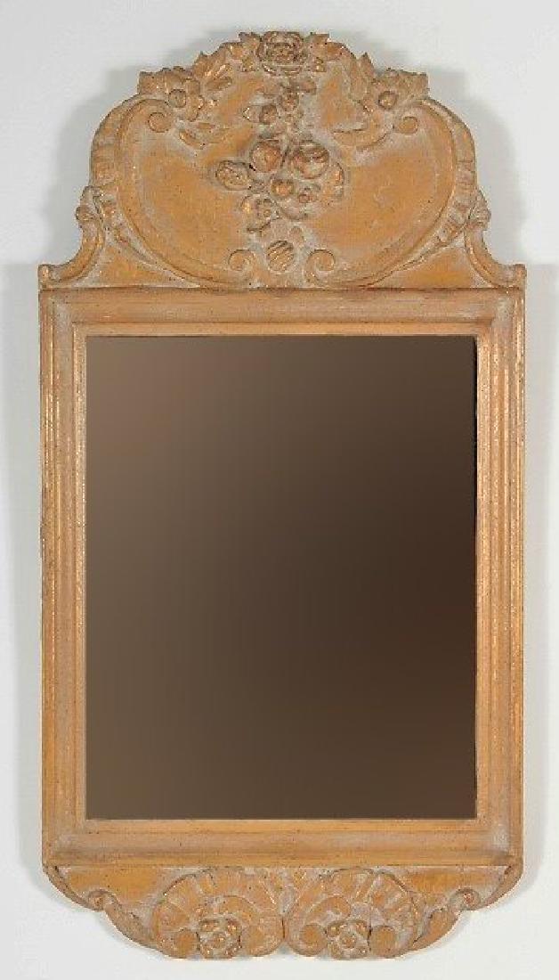 Baroque Style Wooden Rectangular Mirror