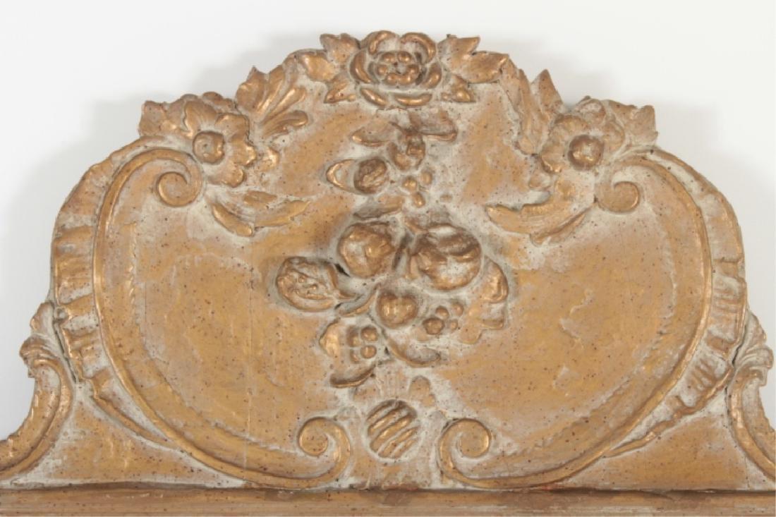 Baroque Style Wooden Rectangular Mirror - 2