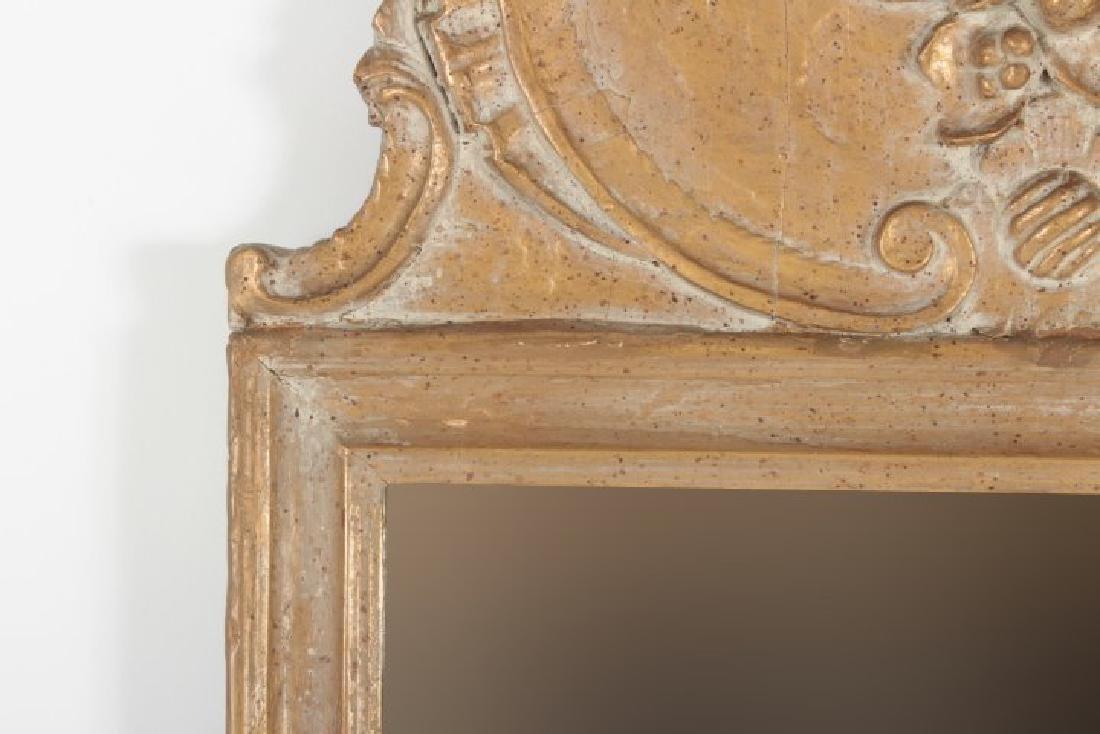 Baroque Style Wooden Rectangular Mirror - 3