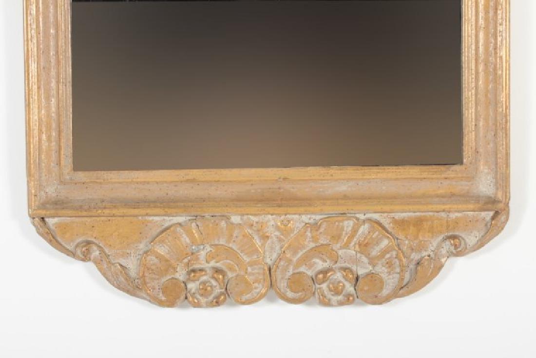 Baroque Style Wooden Rectangular Mirror - 4