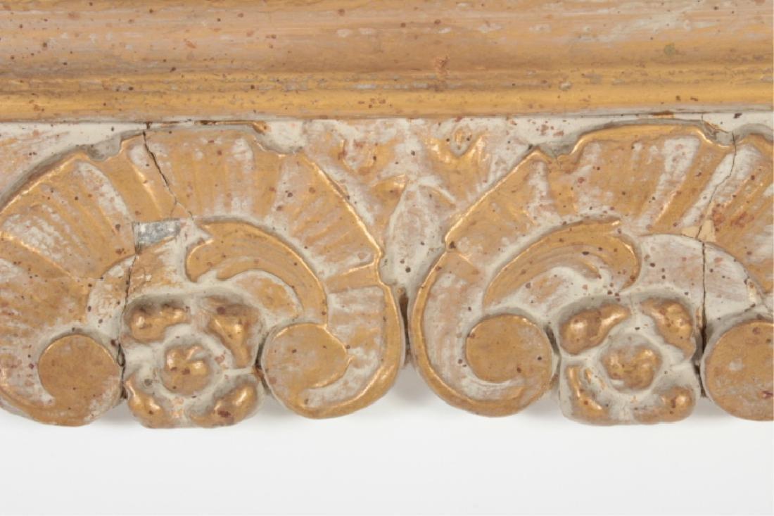 Baroque Style Wooden Rectangular Mirror - 5