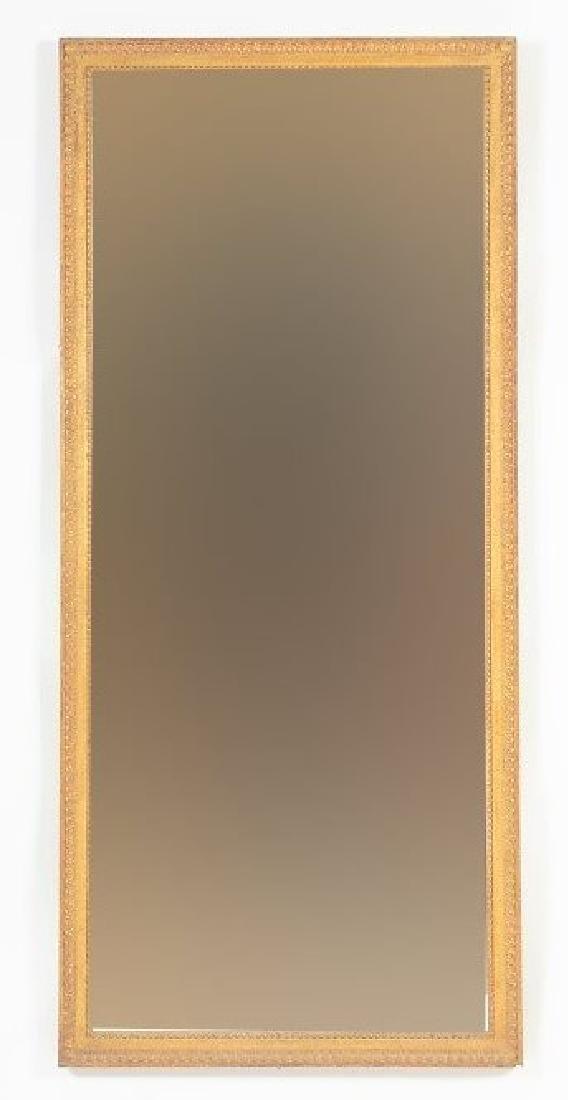 Gesso & Gilt Wood Plate Glass Mirror
